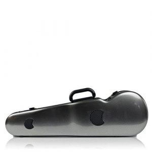 HIGHTECH CONTOURED VIOLIN CASE - SILVER CARBON LOOK