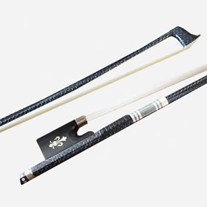 Silver Wire inlay Carbon Fiber Violin Bow