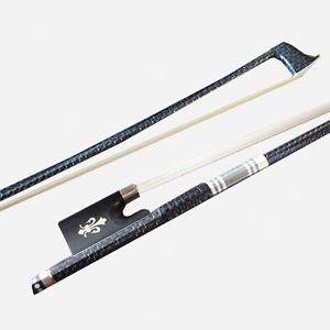 Silver Wire inlay Carbon Fiber Violin Bow