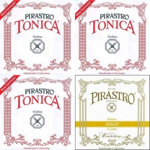 Tonica With Wondertone Gold Label E Violin String Set
